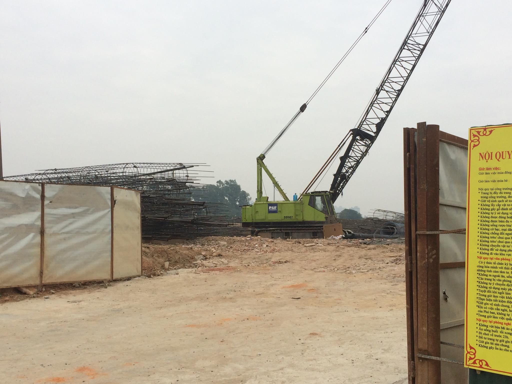 Tiến độ xây dựng chung cư Anland Premium ngày 15/03/2018
