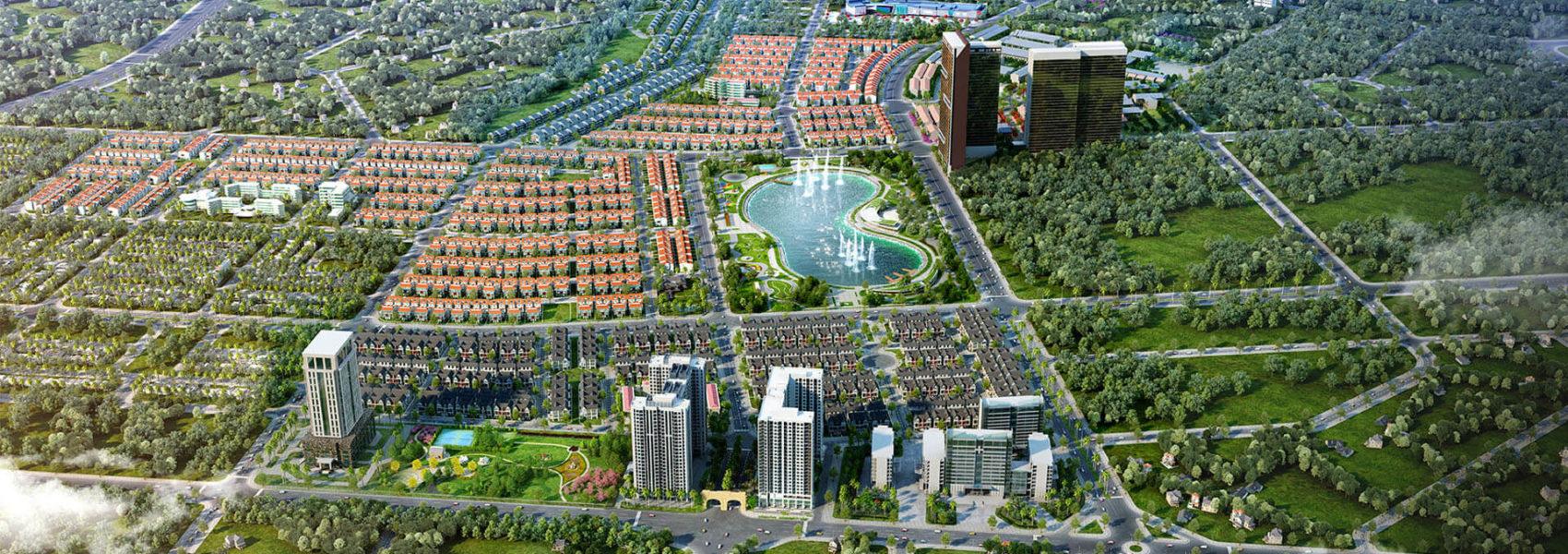 Phối cảnh tổng thể Khu đô thị Dương Nội - Anland Premium CT06 Residences