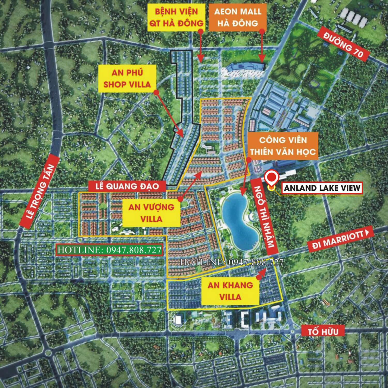 Chung cư Anland Lake View tọa lạc gần trung tâm thương mại AEON Mall Hà Đông